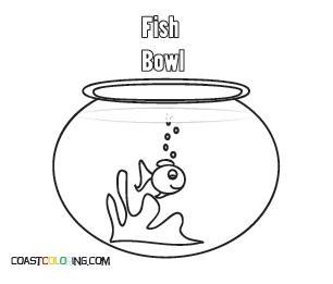 fish tank coloring pages - Fish Bowl Coloring Page Printable